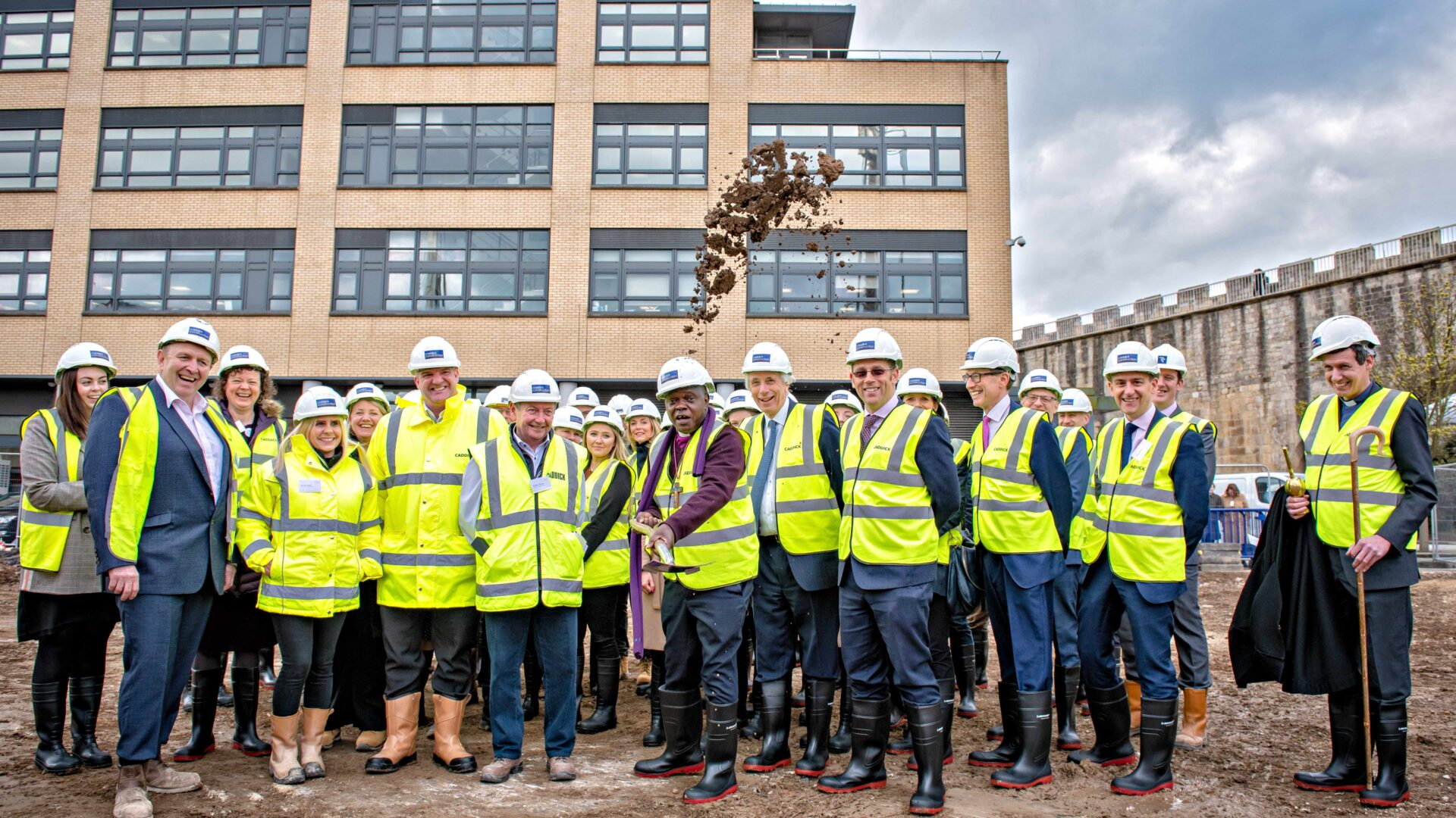 Archbishop of York breaks ground on prestigious Hudson Quarter development